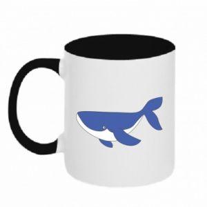 Kubek dwukolorowy Słodki wieloryb