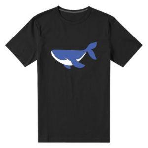 Męska premium koszulka Słodki wieloryb