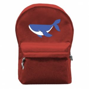 Backpack with front pocket Cute whale