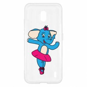 Etui na Nokia 2.2 Słoń-balerina