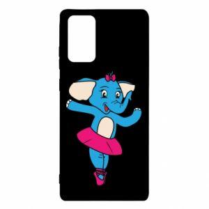 Etui na Samsung Note 20 Słoń-balerina