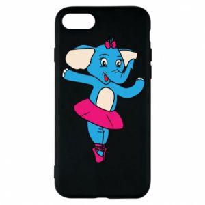 Etui na iPhone 8 Słoń-balerina