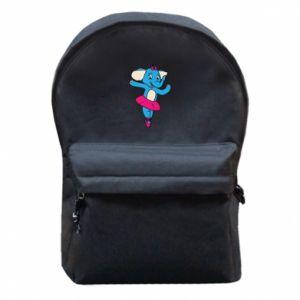 Plecak z przednią kieszenią Słoń-balerina