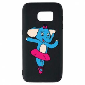 Etui na Samsung S7 Słoń-balerina