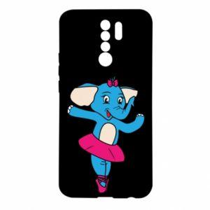 Etui na Xiaomi Redmi 9 Słoń-balerina