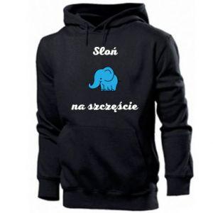 Bluza z kapturem męska Słoń na szczęście