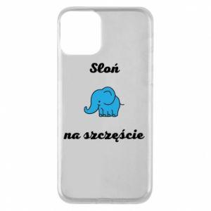 Etui na iPhone 11 Słoń na szczęście