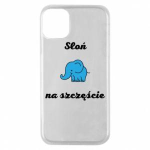 Etui na iPhone 11 Pro Słoń na szczęście