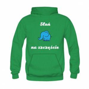 Bluza z kapturem dziecięca Słoń na szczęście