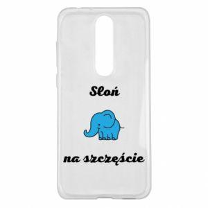 Etui na Nokia 5.1 Plus Słoń na szczęście
