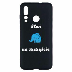 Etui na Huawei Nova 4 Słoń na szczęście