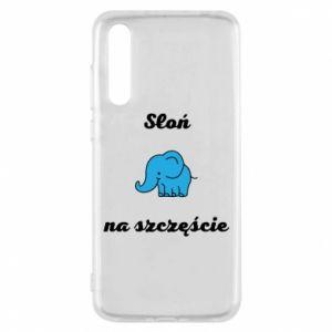 Etui na Huawei P20 Pro Słoń na szczęście