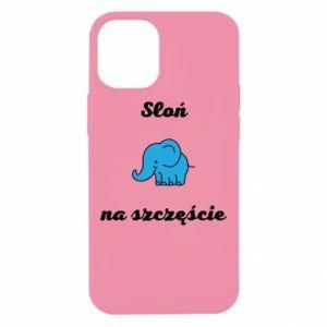 Etui na iPhone 12 Mini Słoń na szczęście