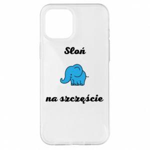 Etui na iPhone 12 Pro Max Słoń na szczęście