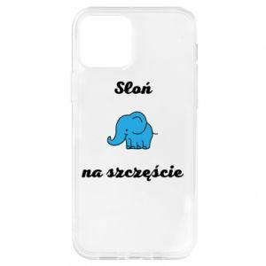 Etui na iPhone 12/12 Pro Słoń na szczęście