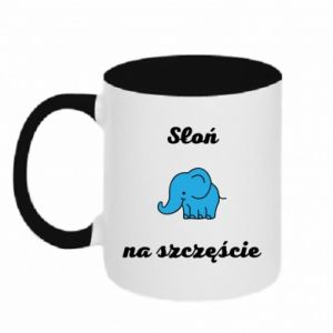 Two-toned mug Elephant for luck - PrintSalon