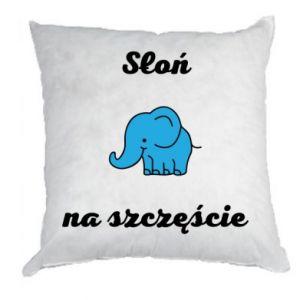 Poduszka Słoń na szczęście