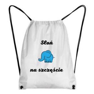 Plecak-worek Słoń na szczęście