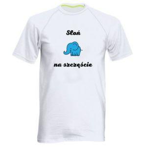 Koszulka sportowa męska Słoń na szczęście