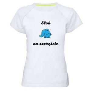 Koszulka sportowa damska Słoń na szczęście
