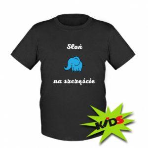 Kids T-shirt Elephant for luck