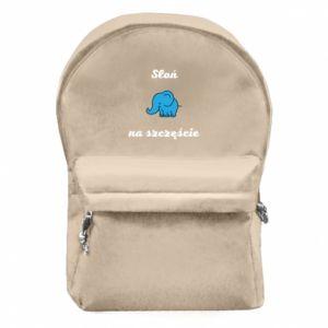 Plecak z przednią kieszenią Słoń na szczęście
