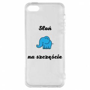 Etui na iPhone 5/5S/SE Słoń na szczęście