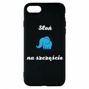 Etui na iPhone 7 Słoń na szczęście