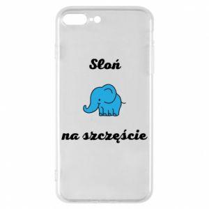 Etui na iPhone 8 Plus Słoń na szczęście