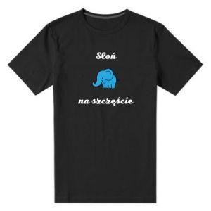 Men's premium t-shirt Elephant for luck - PrintSalon