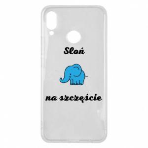 Etui na Huawei P Smart Plus Słoń na szczęście