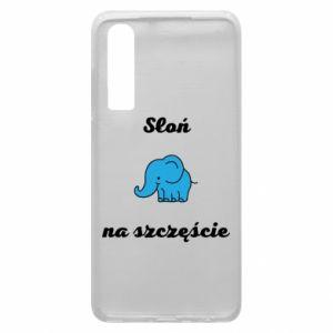 Etui na Huawei P30 Słoń na szczęście