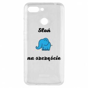 Etui na Xiaomi Redmi 6 Słoń na szczęście