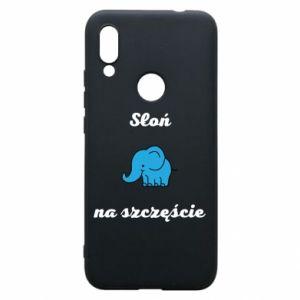 Etui na Xiaomi Redmi 7 Słoń na szczęście