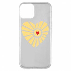 Etui na iPhone 11 Słońce z sercem