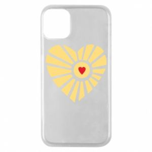 Etui na iPhone 11 Pro Słońce z sercem