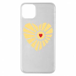 Etui na iPhone 11 Pro Max Słońce z sercem
