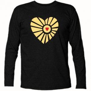 Koszulka z długim rękawem Słońce z sercem