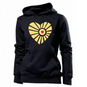Damska bluza Słońce z sercem