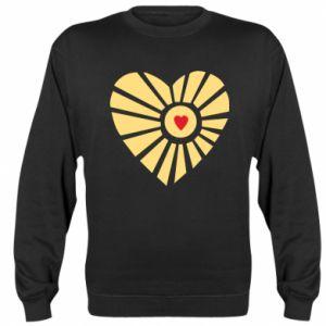 Bluza (raglan) Słońce z sercem
