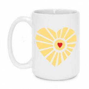 Kubek 450ml Słońce z sercem