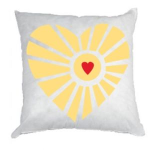 Poduszka Słońce z sercem