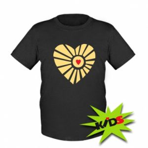 Dziecięcy T-shirt Słońce z sercem