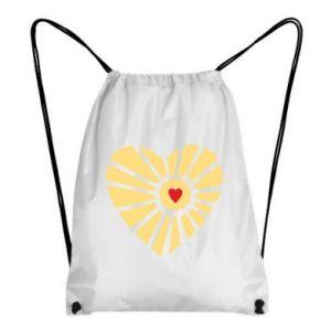 Plecak-worek Słońce z sercem