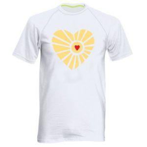 Męska koszulka sportowa Słońce z sercem