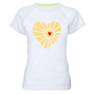 Damska koszulka sportowa Słońce z sercem