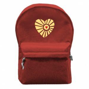 Plecak z przednią kieszenią Słońce z sercem