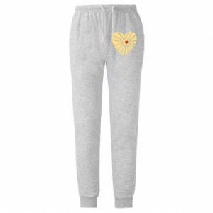 Męskie spodnie lekkie Słońce z sercem