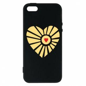 Etui na iPhone 5/5S/SE Słońce z sercem