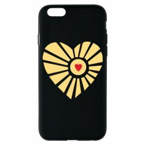 Etui na iPhone 6/6S Słońce z sercem